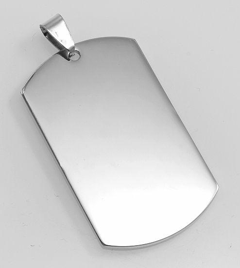 Přívěsek ocel 316L. Destička - psí známka