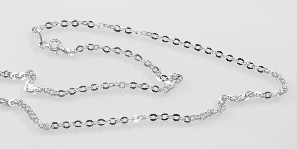 Stříbrný rhodiovaný řetízek Chloema. Délka 42 cm Váha 28 gr