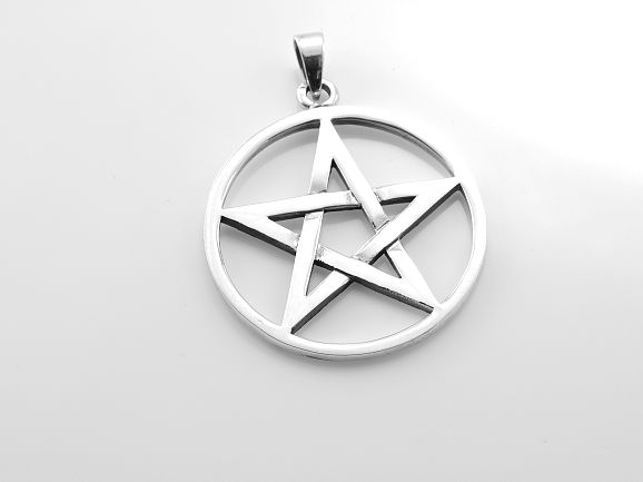 ThajskoSilvermanufacture. Stříbrný přívěsek, Pentagram No.025. AGPRIV620201