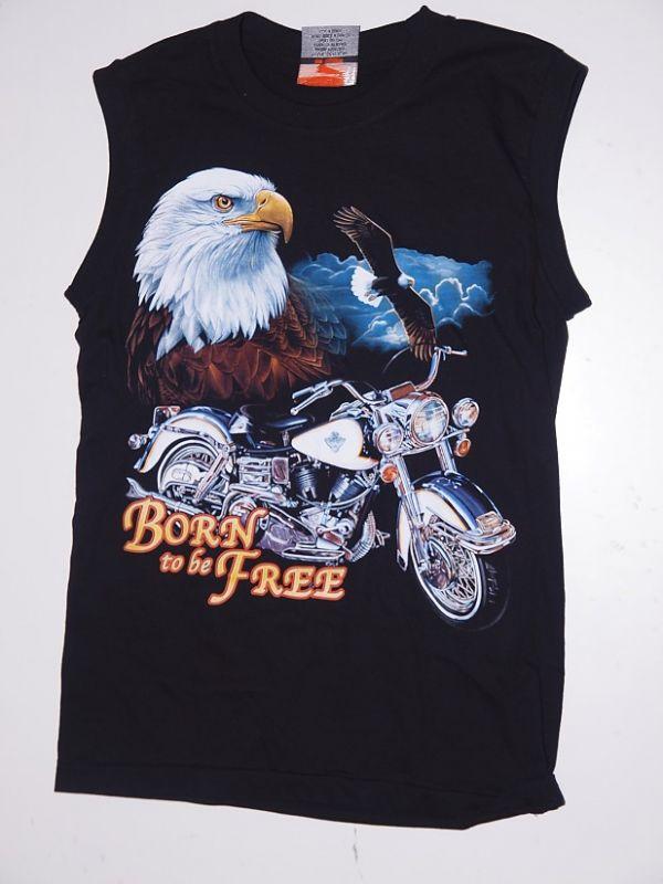 Černé tričko bez rukávu Born to be Free
