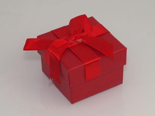 Paoírová krabička na šperky Červená
