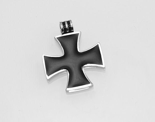 Ocelový přívěsek Maltézský kříž No.015