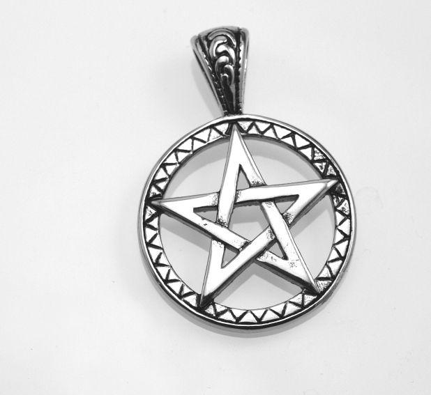 SteelArt Přívěsek ocel 316L, Pentagram OCPRIV220404