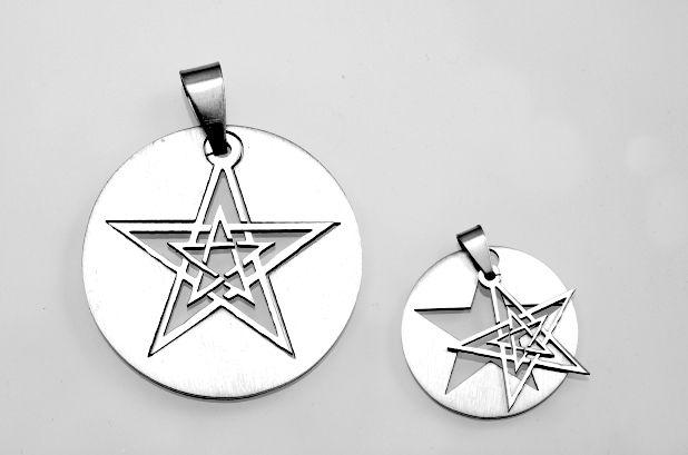 Ocelový přívěsek Pentagram No.017