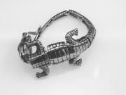 3.Ocelový náramek krokodýl.