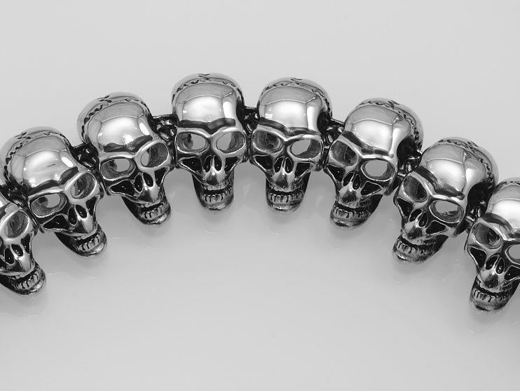Ocelový náramek Lebkay Hallowea.