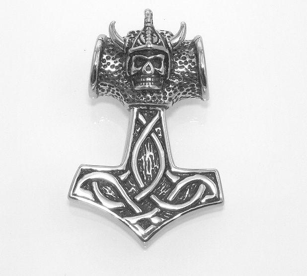 Ocelový přívěsek Thorovo kladivo No.08