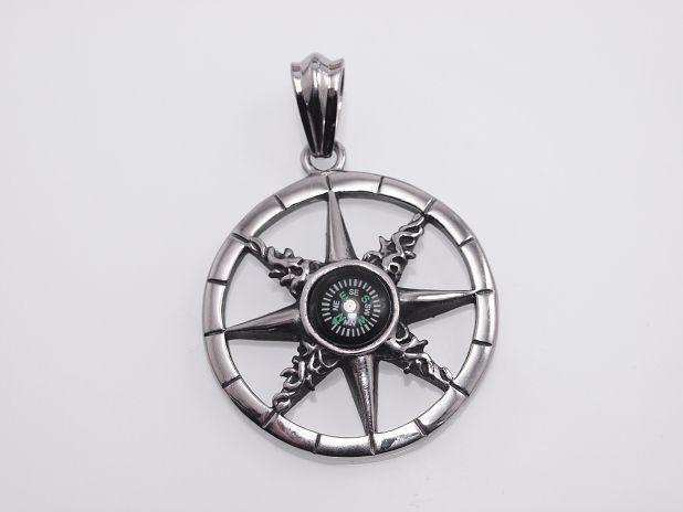 Ocelový přívěsek Kompas