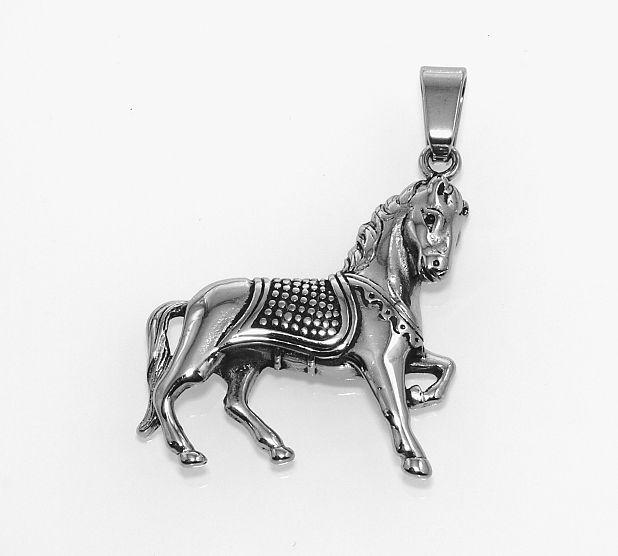 Ocelový přívěsek Kůň