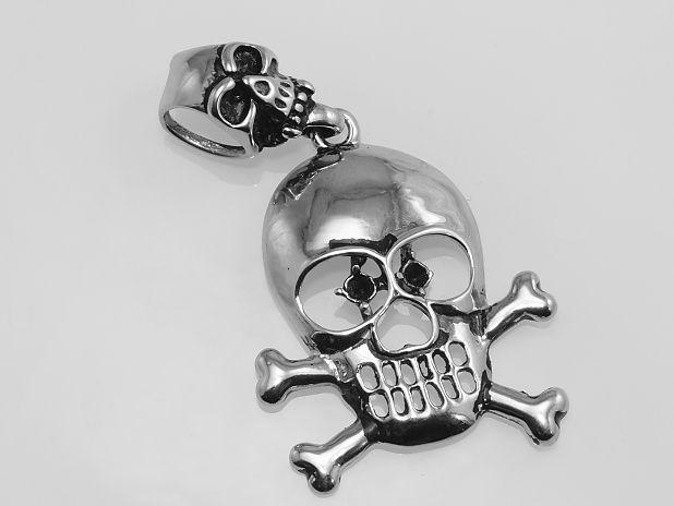 Ocelový přívěsek, Pirátska lebka s hnáty SteelArt