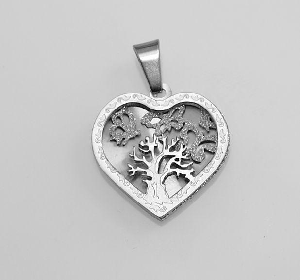 Luxusní ocelový šperk Strom života III.