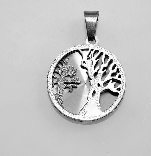 Ocelový přívěsek Stromk života XI.