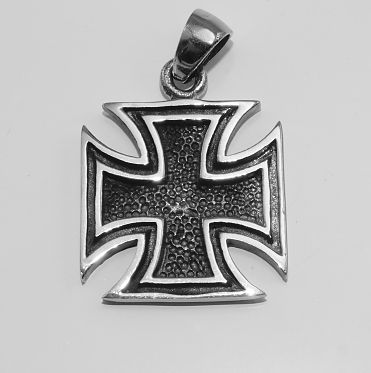 Ocelový přívěsek Válečný kříž