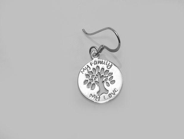 Stříbrná náušnice Strom života No.010