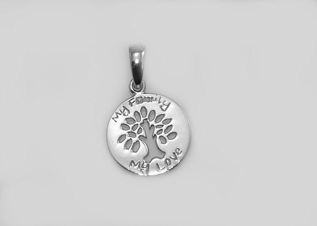 Stříbrný přívěsek Strom života no.010