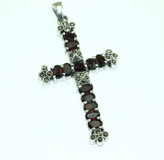 Stříbrný přívěsek, Křesťanský kříž. AGPRIV620324
