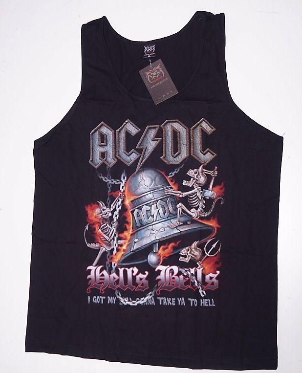Tričko nátělník s motivem ACDC