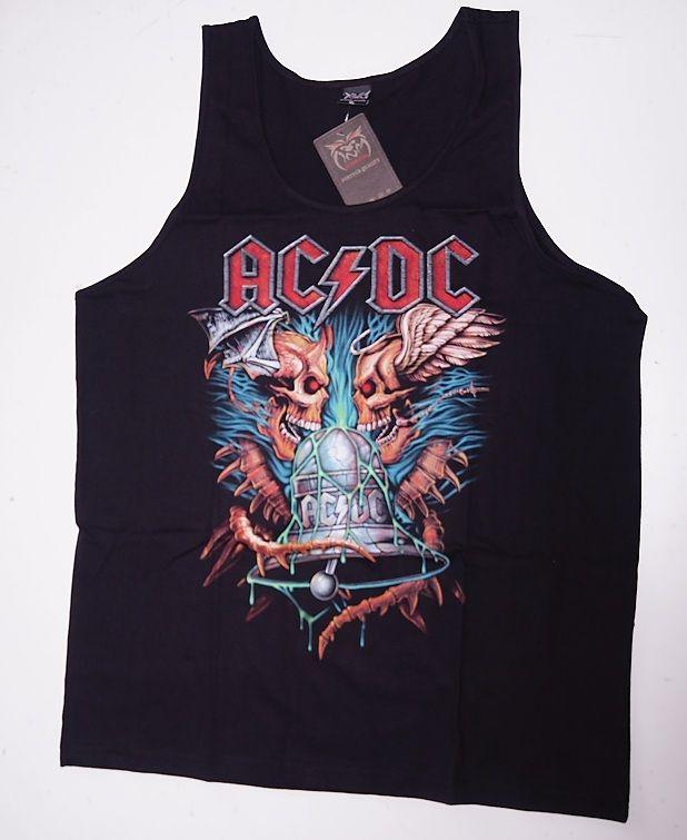 Tričko bez rukávu nátělník ACDC