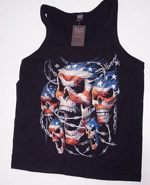 Tričko bez rukávu, Lebky USA