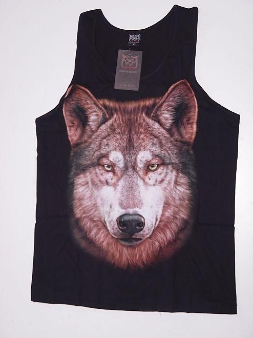 Tričko bez rukávu Vlk