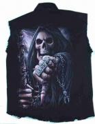 Značková stylová košile bez rukávů, motiv BossReaper SPIRAL