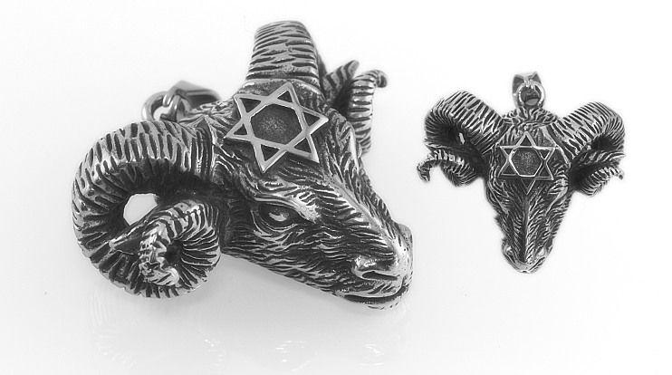 Přívěsek Beraní hlava s Hexagramem