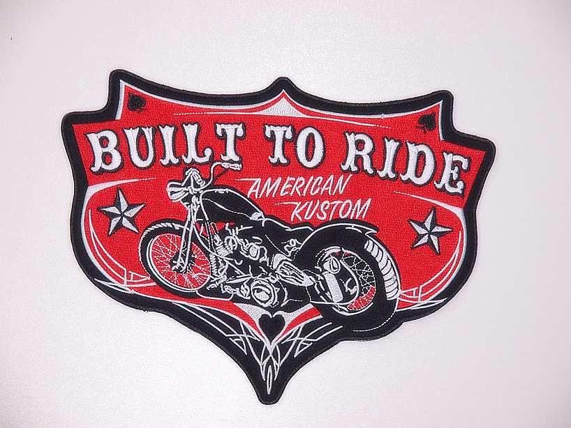 Nášivka  Bullt To Ride