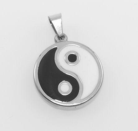Přívěsek, chirugická ocel Jing Jang No. 05