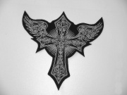 Nášivka - Kříž s křídly
