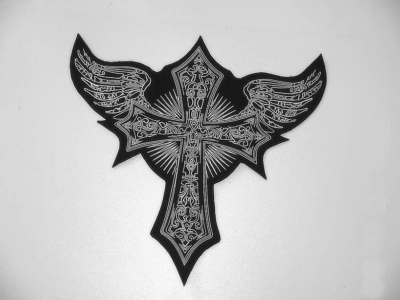 Nášivka Kříž s křídly