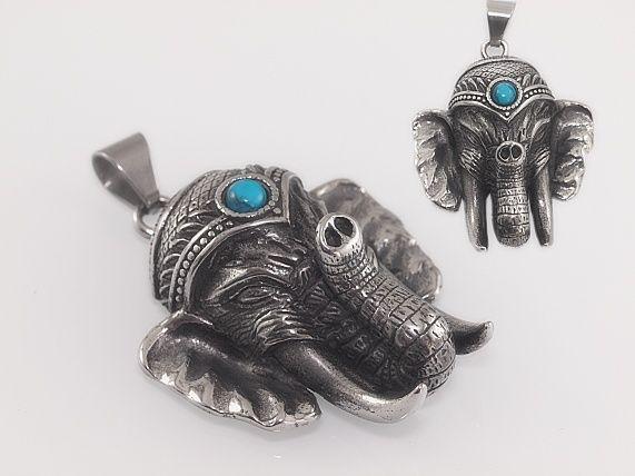 Přívěsek z chirugické oceli slon Nabbu