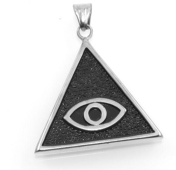 Přívěsek z chirurgické oceli symbol Iluminátů.