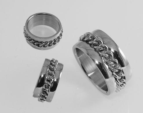 Prsten z chirugické oceli Haddann.