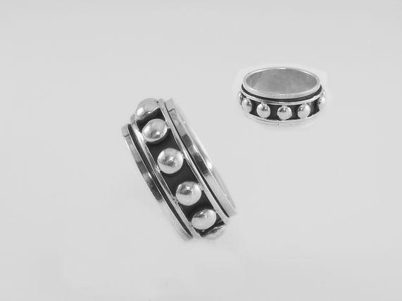 Stříbrný prsten, kroužek Kuličky AG085