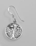 Stříbrná náušnice strom života
