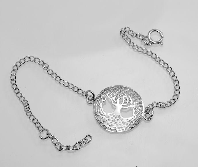 Stříbrný náramek Strom živots