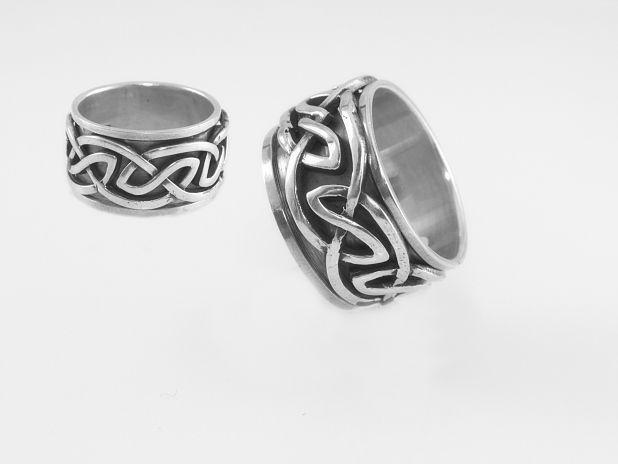 Stříbrný prsten Kelt 03