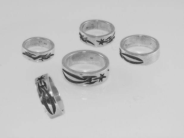 Stříbrný prsten, kroužek No.028