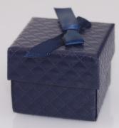 Krabička na šperky Tm. modrá