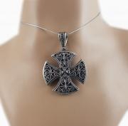 2.Přívěsek z oceli Keltský kříž no.06