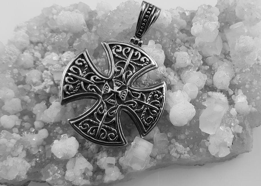 Přívěsek z oceli Keltský kříž no.06