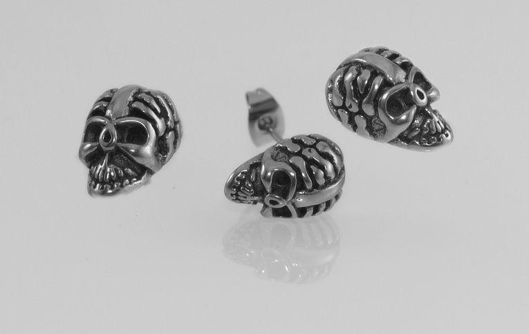 Náušnice Chirugická ocel Lebka Tarraka