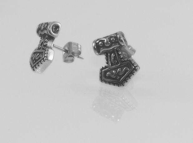 1. Náušnice z chirugické oceli Thorovo kladivo