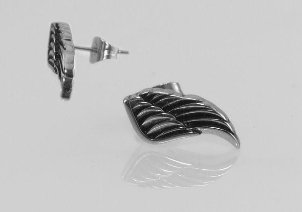 1. Náušnice z chirugické oceli andělské křídlo