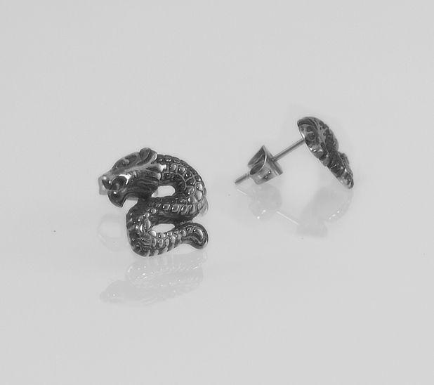 1. Náušnice Chirugická ocel Had