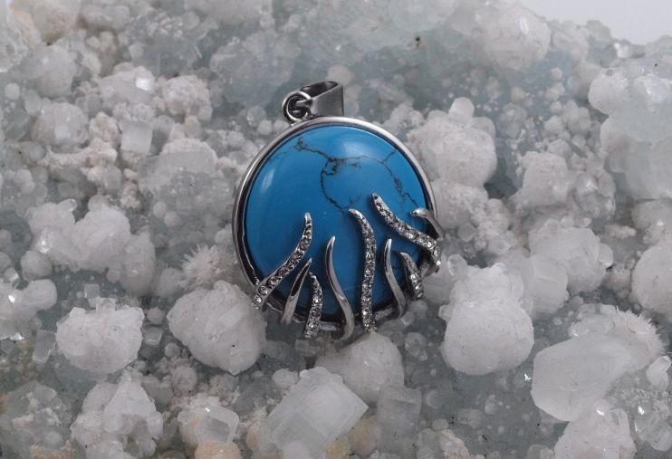 Přívěsek z chirugické oceli Suarranna Modrá
