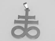 Přívěsek z chirurgické oceli Kříž Levithan, chrom
