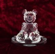 Skleněná dekorace Medvídek
