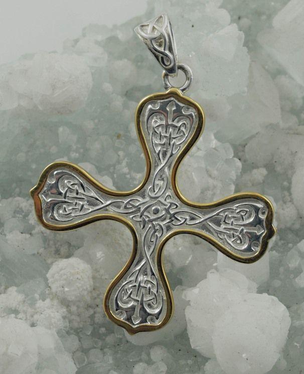 2.Stříbrný přívěsek Keltský kříž 250506