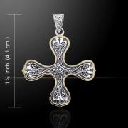 Stříbrný přívěsek Keltský kříž 250506